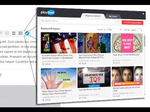 Playbuzz WordPress Plugin