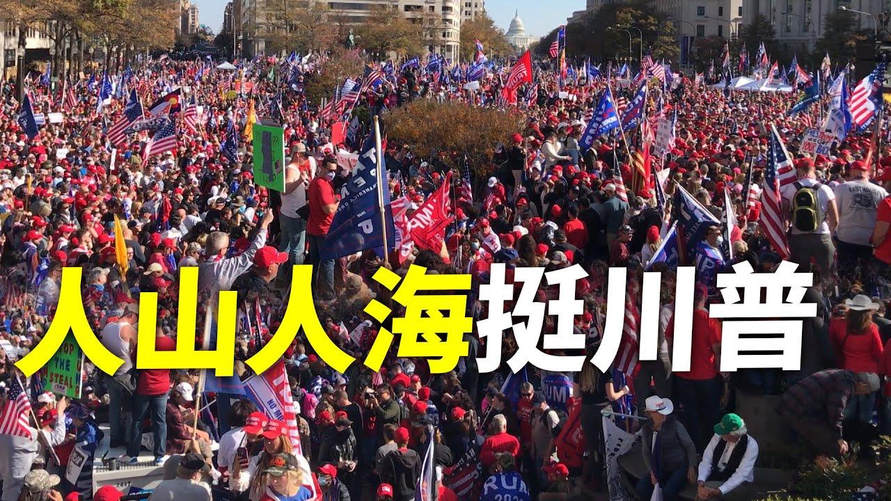 11月14日華盛頓挺川集會,盛大、和平的遊行場景,現場人山人海