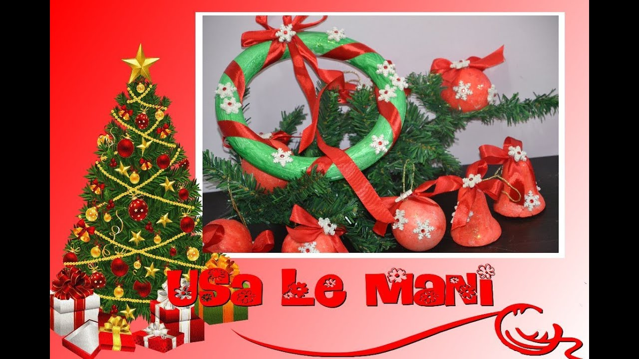 Tutorial Decorazioni Natalizie Fai Da Te: Polistirolo / Christmas DIY    YouTube