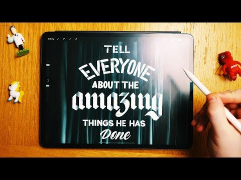 iPad Pro Lettering Tutorial: INCREDIBLE Shadow Lettering Drawing ✏