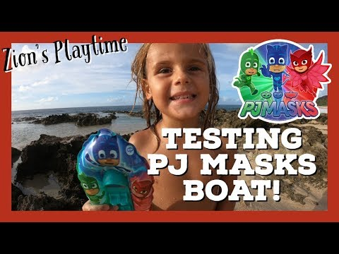 Testing the NEW PJ MASKS SPEED BOAT TOY!!
