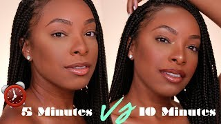 "5 MINUTE MAKEUP?! UPDATED EVERYDAY ""NO MAKEUP"" MAKEUP LOOK (2 VERSIONS)!"