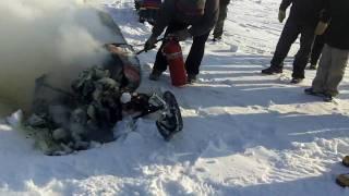 Ski-doo burning