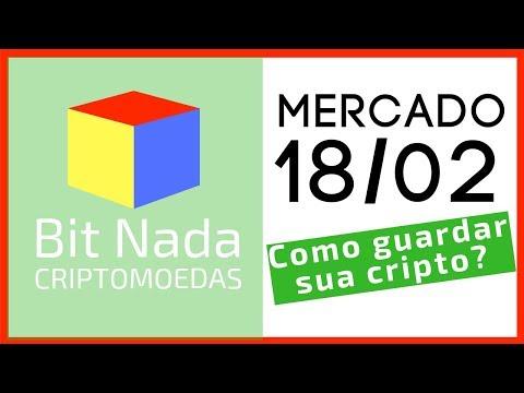 Mercado de Cripto! 18/02 Bitcoin 3.700 USD / COMO GUARDAR SUA CRIPTO? / Groselha