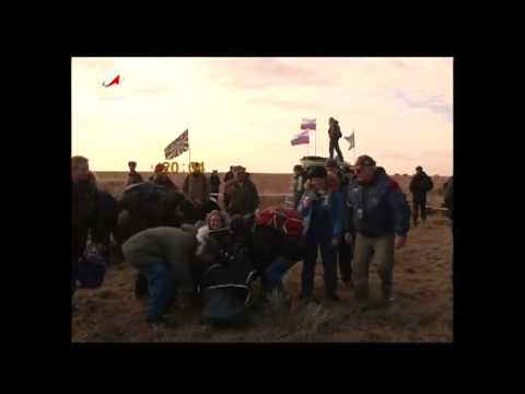 Expedition 49 Crew Lands Safely in Kazakhstan