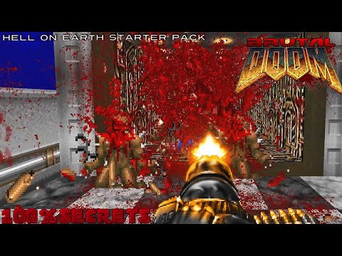 Brutal Doom v20b Hell On Earth Starter Pack #1(100% Secrets)