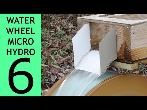 Waterwheel Microhydro P6, Chutes and Rakes