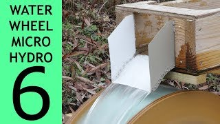 [Part 6 of 10] Waterwheel Microhydro, Chutes and Rakes