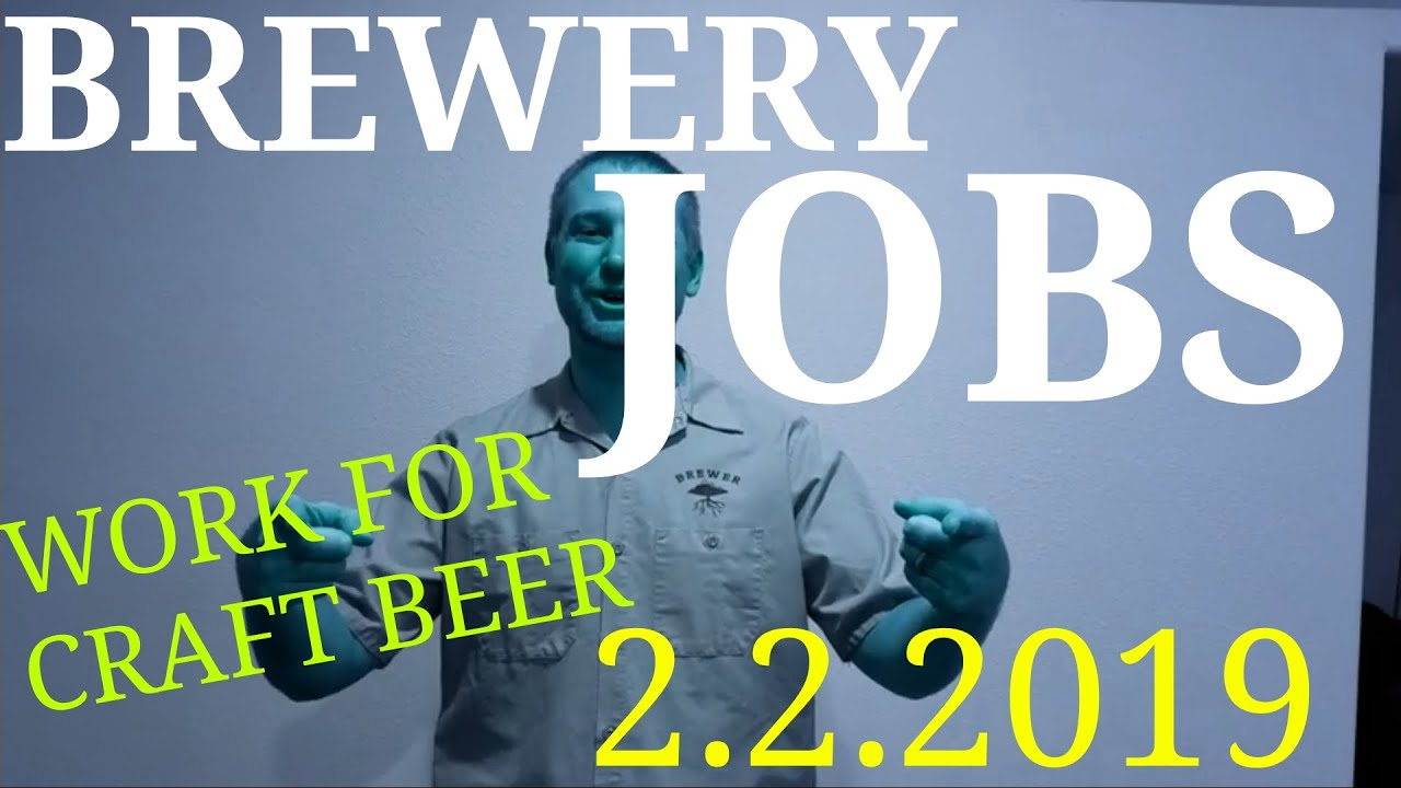 Brewery Jobs For Craft Beer 2 2 19 Youtube