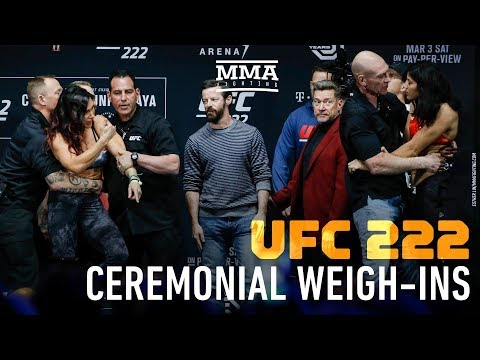 UFC 222 Ceremonial Weigh-Ins - MMA Fighting