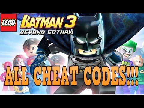 LEGO BATMAN 3 BEYOND GOTHAM ALL CHEAT CODES