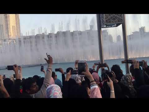 Exo POWER at Dubai water fountain