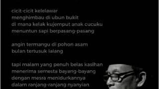 KH. D. Zawawi Imron Membacakan puisi Bulan Tertusuk Lalang