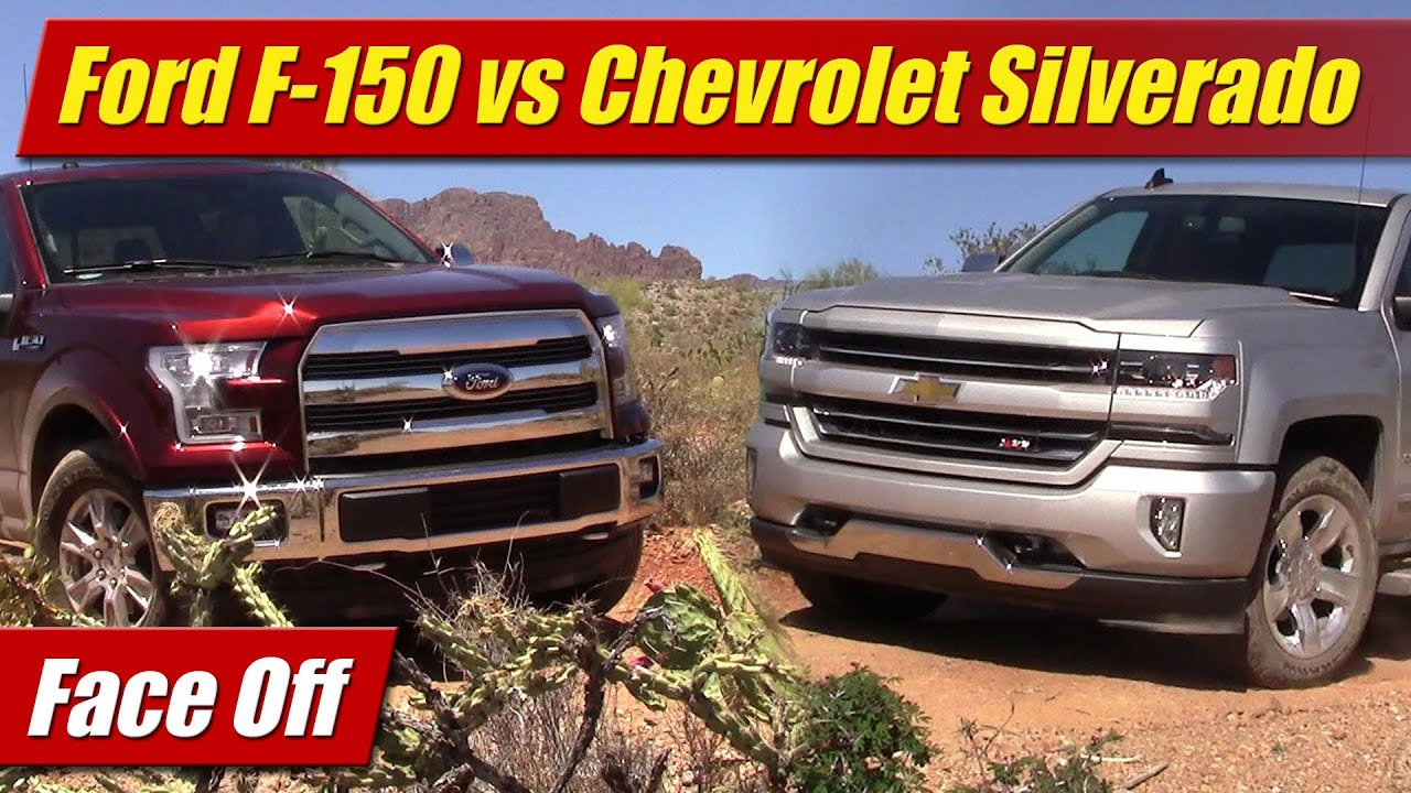 Face Off Ford F V Vs Chevrolet Silverado V YouTube - Chevrolet ford