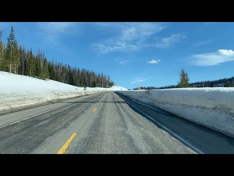 Deep Snow on Togwotee Pass in Wyoming
