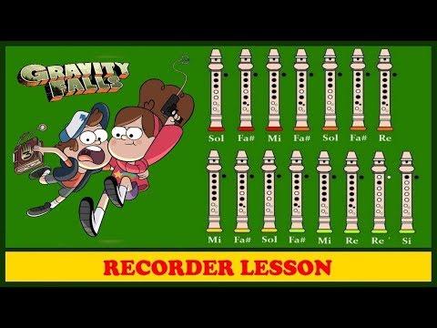Gravity Falls (Opening) | Recorder Notes Tutorial ♪♪♪