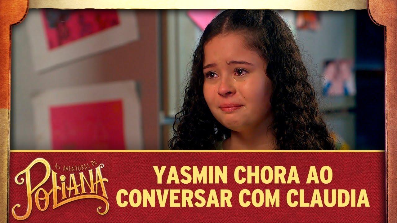 Yasmin chora ao conversar com Claudia | As Aventuras de Poliana