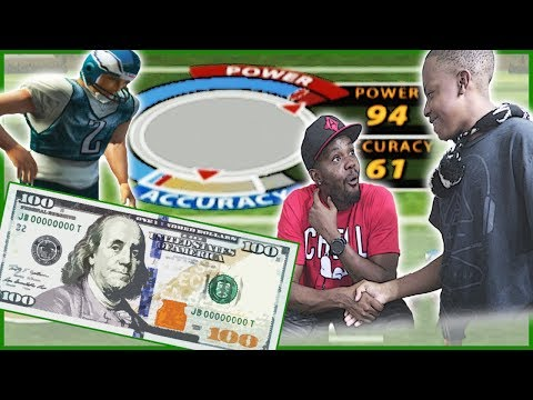HE MIGHT HAVE A PROBLEM! $100 MINI GAME WAGER! - Madden 05 Mini Games | Clutch Kicking