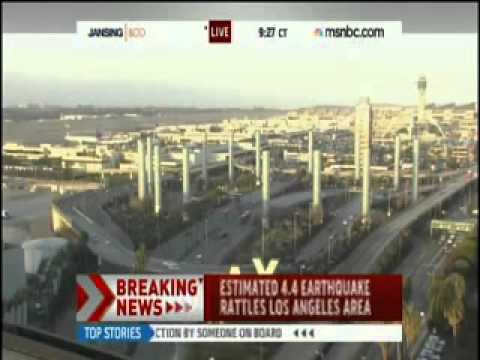 EARTHQUAKE MUST SEE Rattles Across Los Angeles, California