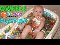 Baby Owen Takes an Orbeez Bath!