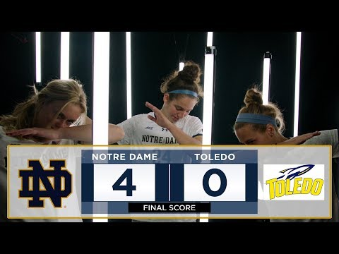 Notre Dame Women's Soccer Highlights vs. Toledo