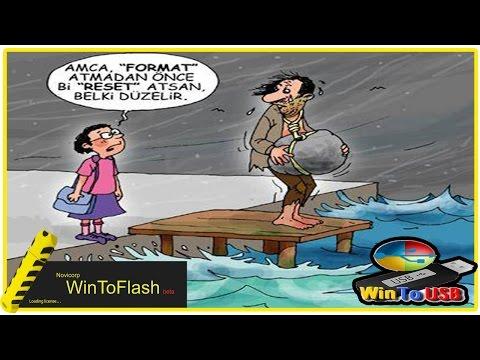 Windows 7 Flash belleğe Yüklemek