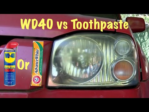 Headlight Restoration (WD40 vs Toothpaste) DOES IT WORK?