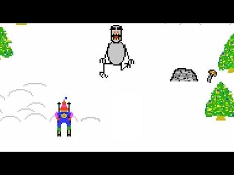 Retro Games (HD) — Ski Free—-EATEN BY THE GREMLIN!!