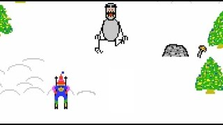 Retro Games (HD) -- Ski Free----EATEN BY THE GREMLIN!!