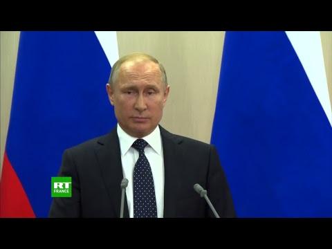Conférence de presse d'Angela Merkel et Vladimir Poutine à Sotchi