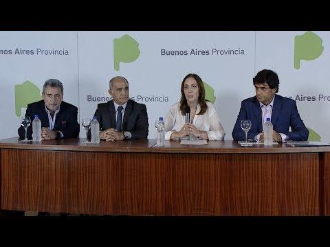 Vidal anunció rebajas de impuestos a la luz, gas y el agua de usuarios bonaerenses