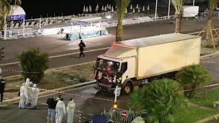 Fransa Nice'teki terör saldırısı kamerada (France Nice terror attack Bastille Day)