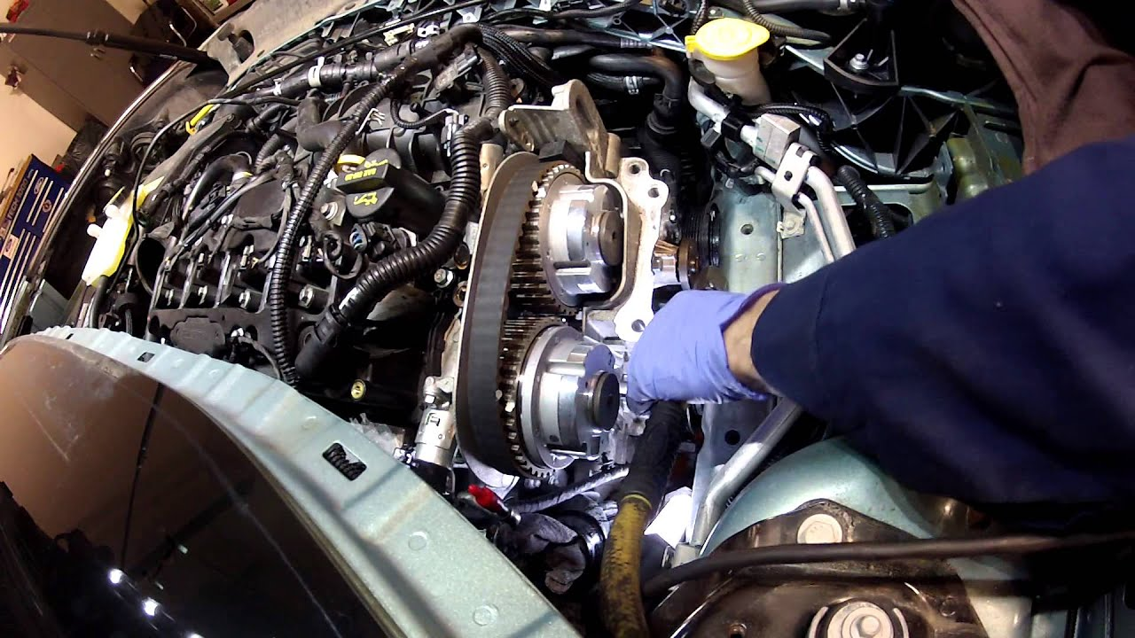 small resolution of 2013 ford escape 1 6 liter coolant pump video 6