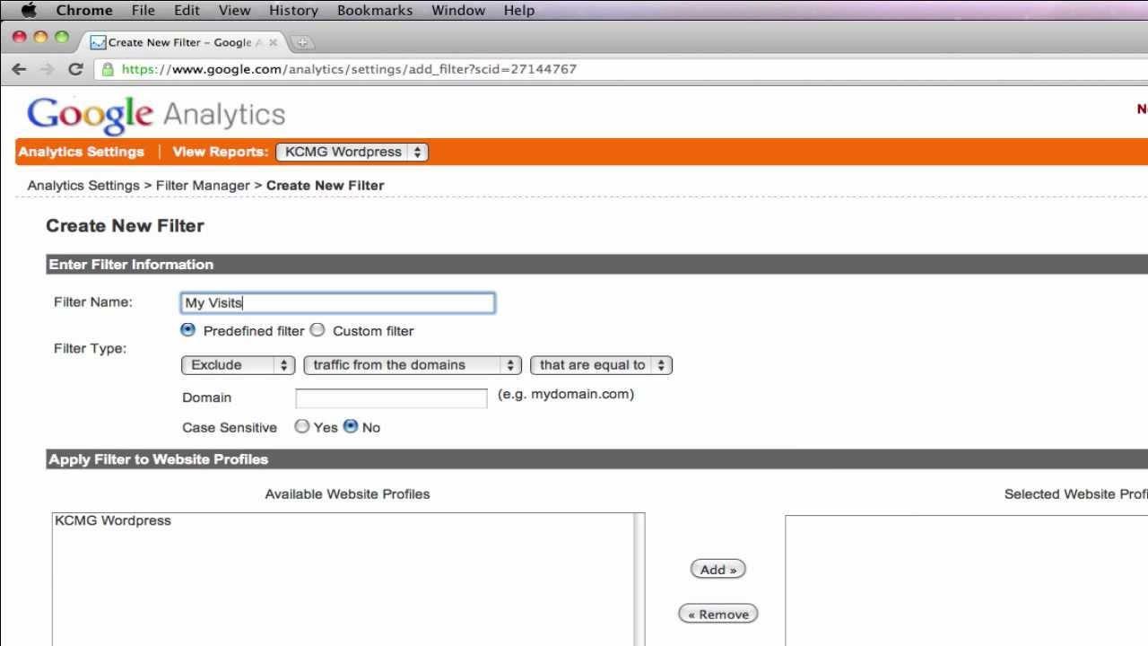 Google Analytics   How to Exclude Your IP Address & Visits ...