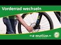 Vorderrad wechseln beim e-Bike / Pedelec - Wie geht das?