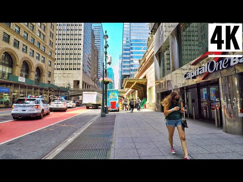 ⁴ᴷ⁶⁰ Walking Grand Central Terminal New York City 2020 Via Lexington Avenue & 42nd Street NYC
