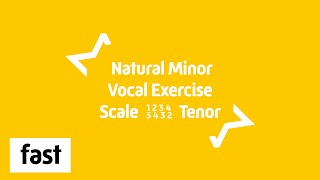 Tenor | Vocal Exercise | Natural Minor Scale | 1 2 3 4 5 4 3 2 1 | Bb2-D5 | Fast 240 BPM