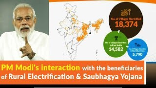 PM Modis interaction with the beneficiaries of Rural Electrification  Saubhagya Yojana