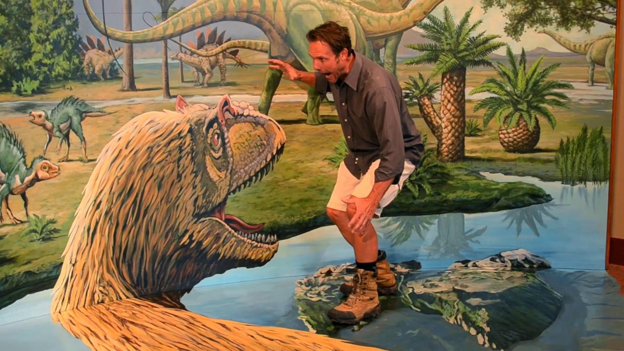 Rouse 66 Garden of the Gods 3D Dinosaur Mural - YouTube