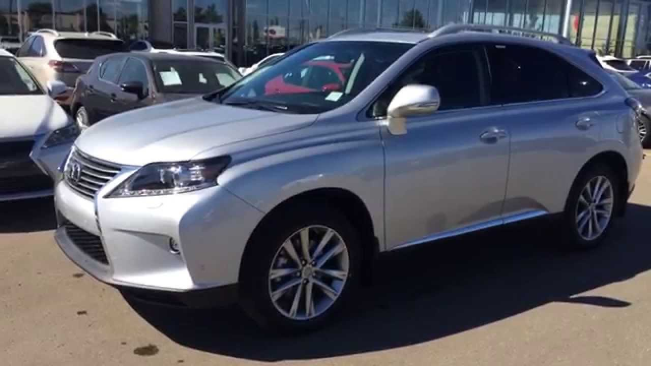 New Silver 2015 Lexus RX 350 AWD Touring Package Review - Edmonton ...