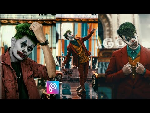 Joker concept photo editing tutorial in PicsArt step by step in hindi thumbnail