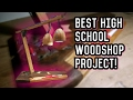 Teen Makes Amazing Lamp (High-School Wood-Shop)