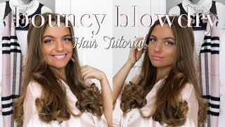 HOW TO GET BOUNCY BLOWDRY CURLS USING STRAIGHTENERS