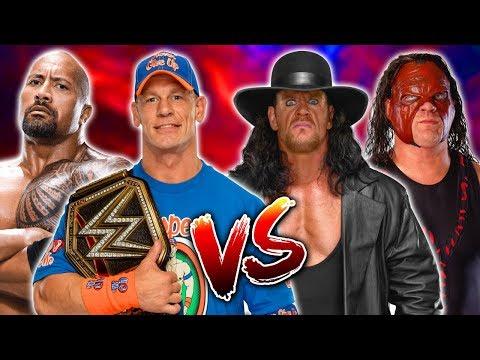 John Cena U0026 The Rock Vs. The Undertaker U0026 Masked Kane (Brothers Of Destruction) Classic Tag Team