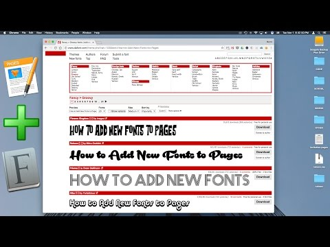 How to Add New Fonts to Pages - YouTube