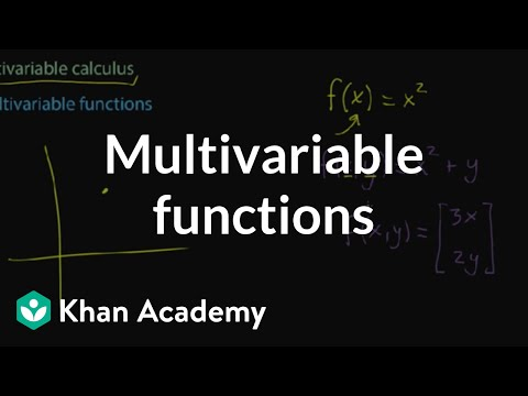 Multivariable functions | Multivariable calculus | Khan Academy