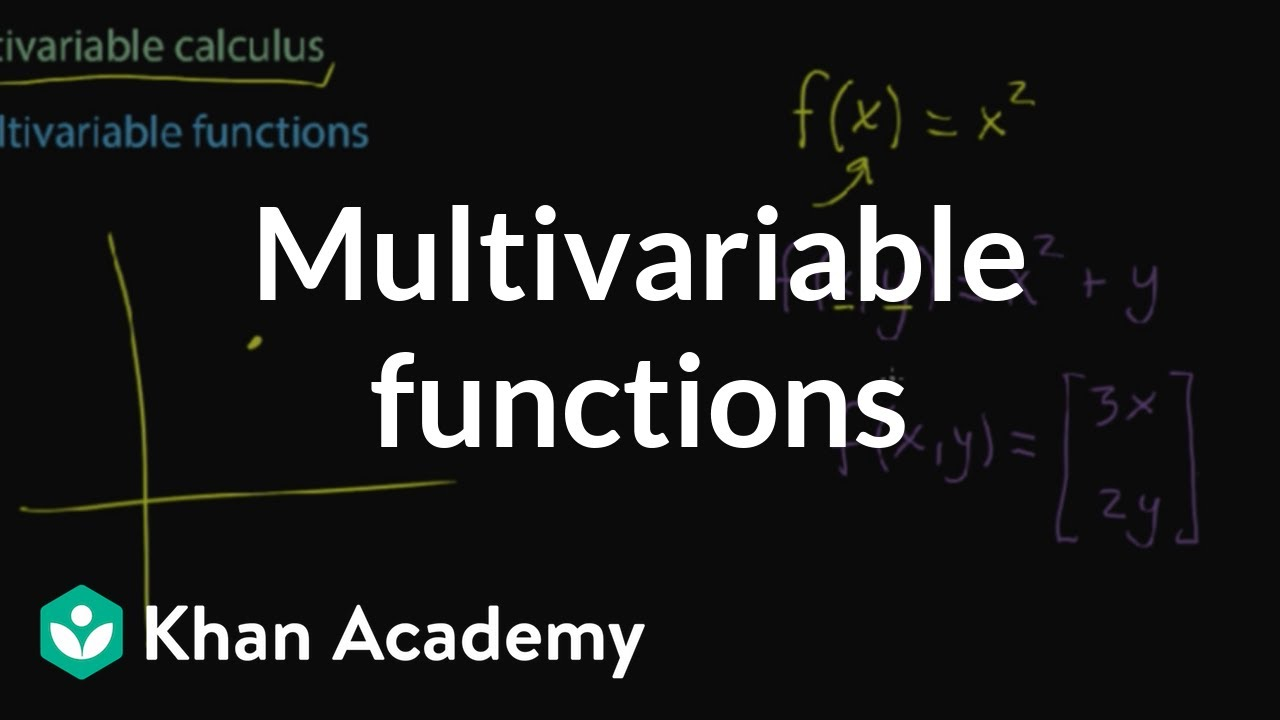 Multivariable functions (video) | Khan Academy