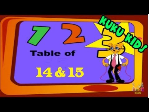 Maths - Tables For Children 14 & 15 Repeat And Learn - Videos For Senior Schol Education