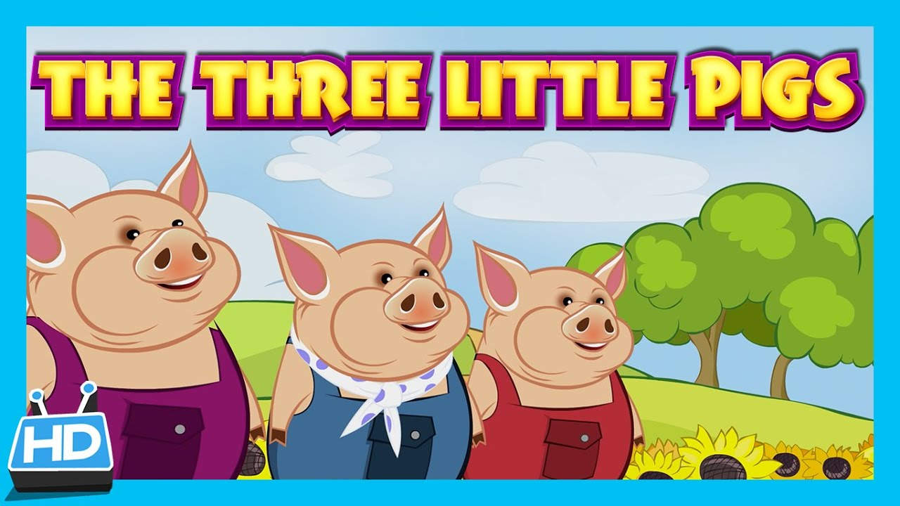 the three little pigs and the big bad wolf three little pigs [ 1280 x 720 Pixel ]