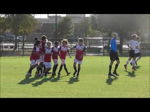 USSDA U14 FC Dallas Academy vs. San Antonio FC Academy highlights Nov 17 2018.